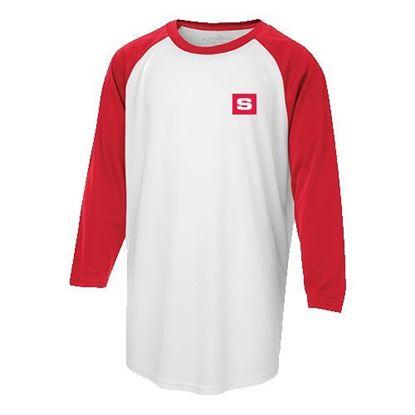 Image de T-shirt baseball JR  blanc/rouge Y3526
